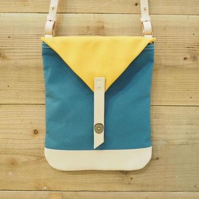 帆布Book Bag(シアンブルー×マスタード)