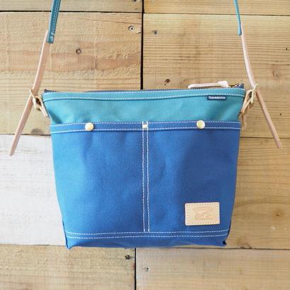 帆布ミニショルダー(ブルー×シアンブルー)