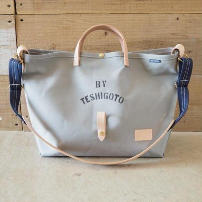 帆布LIFE Bag(グレー×ネイビー)