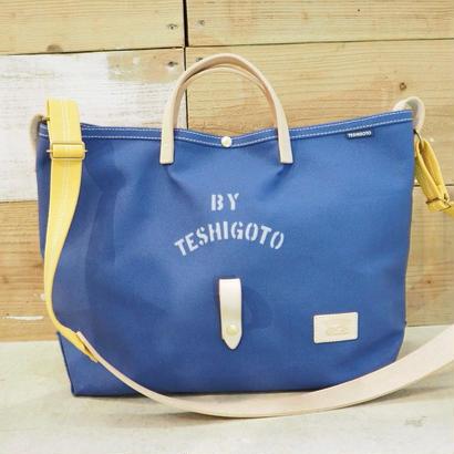 帆布LIFE Bag(ブルー×マスタード)