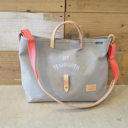 帆布LIFE Bag(グレー×ヴァーミリオン)