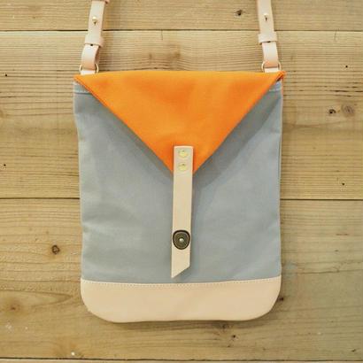 帆布Book Bag(グレー×オレンジ)