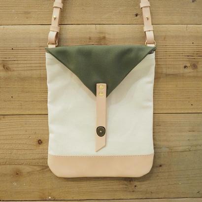 帆布Book Bag(キナリ×カーキ)