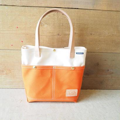 帆布ポケトート(オレンジ×ホワイト)