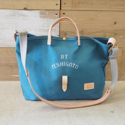 帆布LIFE Bag(シアンブルー×グレー)