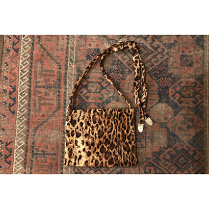 Leopard Fur Strap Bag.