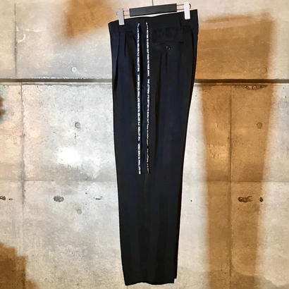 High Waisted Strap Pant. -Cupro Stripe-