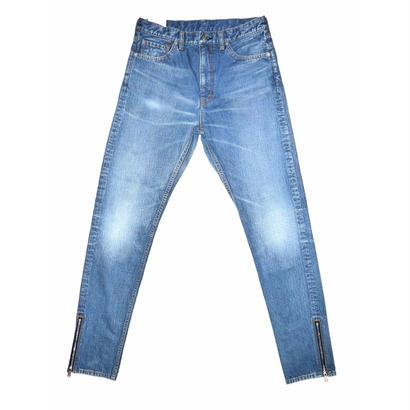 5 Pocket Denim Side Zip Pants.
