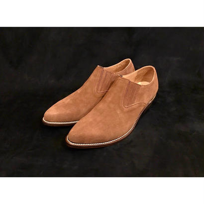 Western Pointed Sidegore Shoes.  -Suede-