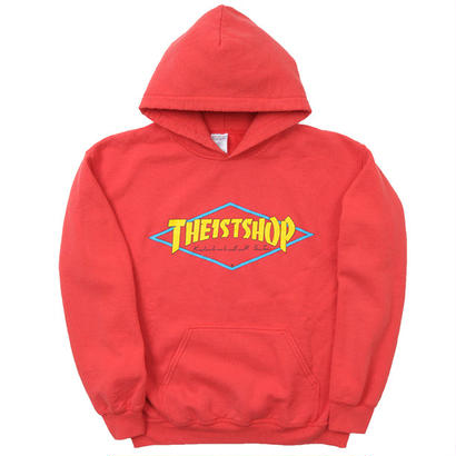 """THE 1ST SHOP """"Vintage Washed"""" Hoodie """"RED"""""""