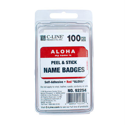 "ALOHA my name is ""NAME BADGES"""