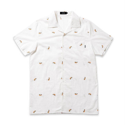 5-0 BUTTON UP - WHITE