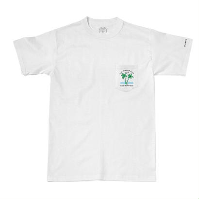 LAZY DAYS POCKET TEE - WHITE
