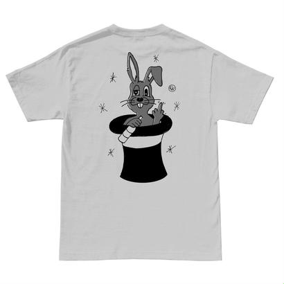 DRUNK BUNNY TEE -LIGHT GREY