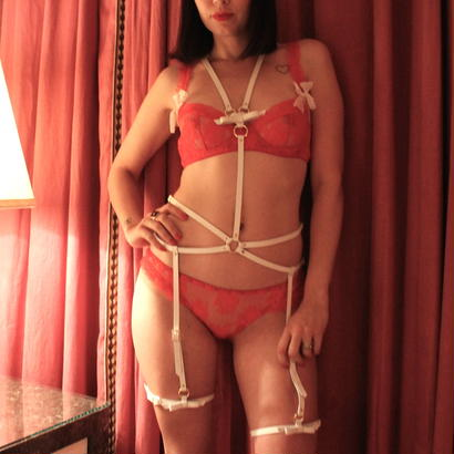 Leather Harness-White