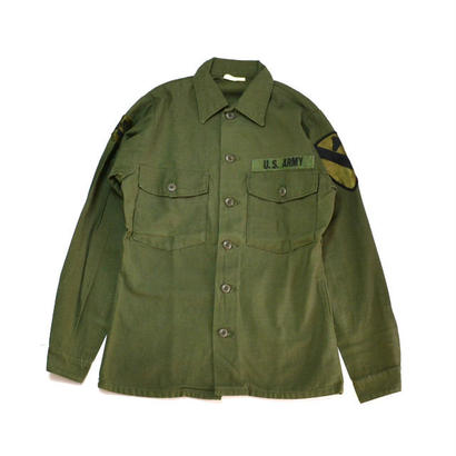 1970s US ARMY / Cotton Utility Shirts(USアーミー / L/Sシャツ)ms-0002
