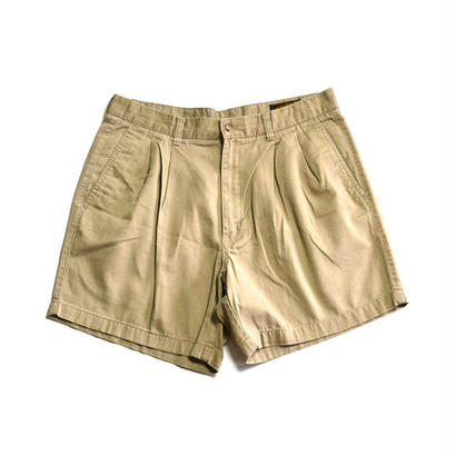 1990s Eddie Bauer / Cotton 2Tuck Shorts(エディーバウアー / ショーツ)ms-0004