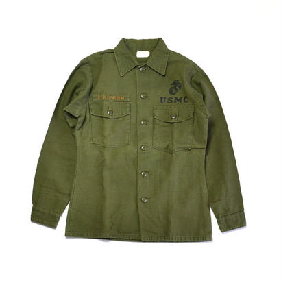1970s USMC / Cotton Utility Shirts(USマリンコープ / L/Sシャツ)ms-0001
