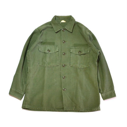 1960s US ARMY / Cotton Utility Shirts(USアーミー / L/Sシャツ)ms-0005