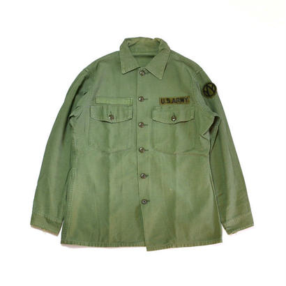 1960s US ARMY / Cotton Utility Shirts(USアーミー / L/Sシャツ)ms-0004