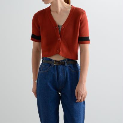 ALLEGE FEMME / Rib S/S cardigan