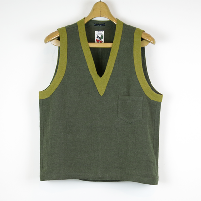 TIB_41 FRANK LEDER Roughed Up Linen Vest
