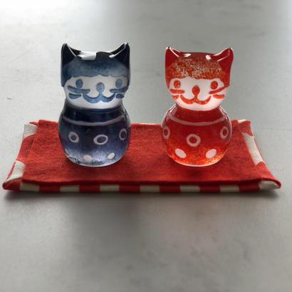 猫のおひなさま(エプロン小紋)