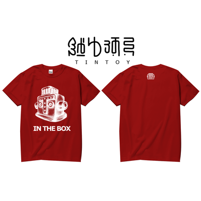 S/S TEE -「IN THE BOX」-RED