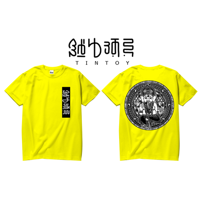 S/S TEE -「GANESHA-2」-YELLOW