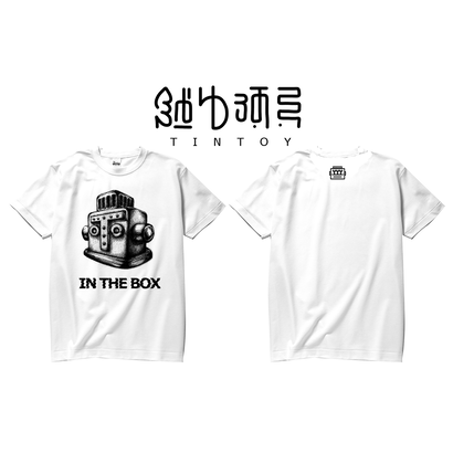 S/S TEE -「IN THE BOX」-WHITE