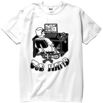 S/S TEE 「JOB HAr(n)D」-WHITE