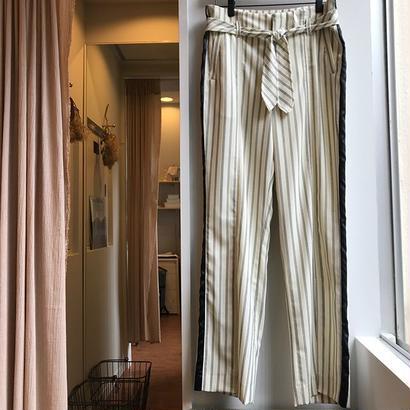 ALLEGE / Stripe belted pants (Femme)