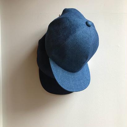 niuhans / Indigo linen baseball cap
