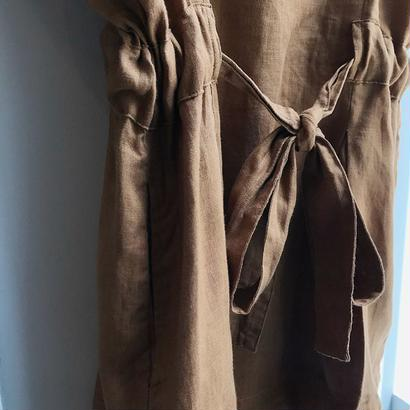 traditional weatherwear / linen dress /  used clothing