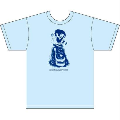 高橋葉介グッズ Tシャツブルー(ミルクちゃん)