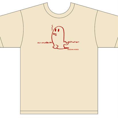 吾妻ひでおグッズ Tシャツ(タバコおばけ)