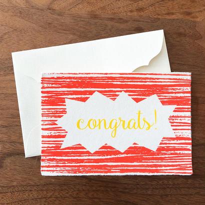 """メッセージカード """"おめでとう"""" / Greeting Card """"congrats! """""""