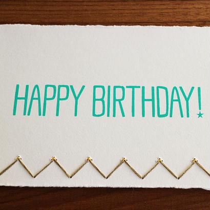 Birthday Card ゴールド