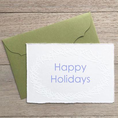 """メッセージカード """"楽しい休暇を"""" / Greeting Card """" Happy Holidays"""""""