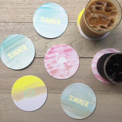 Seasonal Paper Coasters / SUMMER! - 3枚セット