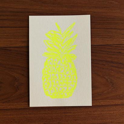 パイン柄 カード【ホワイト】