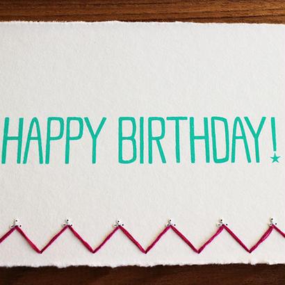 Birthday Card ピンク