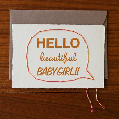 Hello Baby Girl 出産祝い 女の子