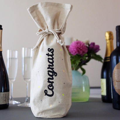 """ボトル用ギフトバッグ「おめでとう」/ Bottle Bag """"Congrats"""" <送料込>"""