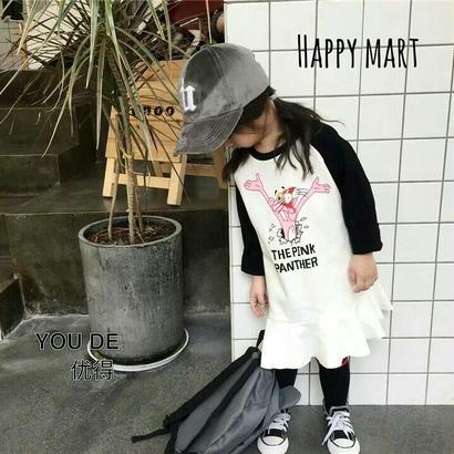 (即納♡)(kids☆)ピンクパンサーワンピース