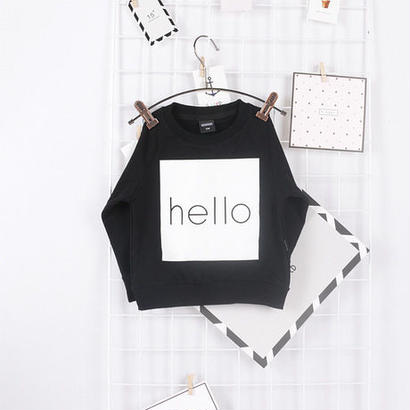 (即納♡)(kids☆)helloブラックスウェット