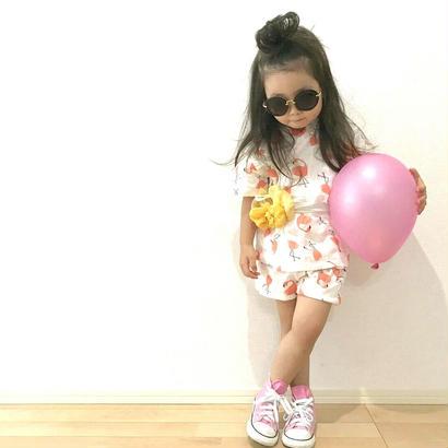 (Kids★)(即納☆)フラミンゴ&フルーツ&柄甚平