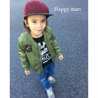 (即納♡)(kids☆)ミッキーワッペン付MA-1ジャケット