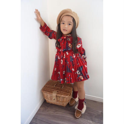 (即納♡)(kids☆)花柄アンティークワンピース☆
