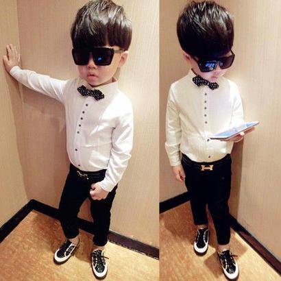 (即納♡)(kids☆)蝶ネクタイ付カッターシャツ